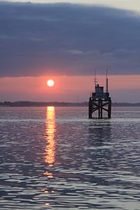 Sunrise leaving Lymington