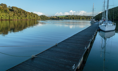 Up the Truro River, early morning