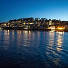 Night reflections across Fowey harbour