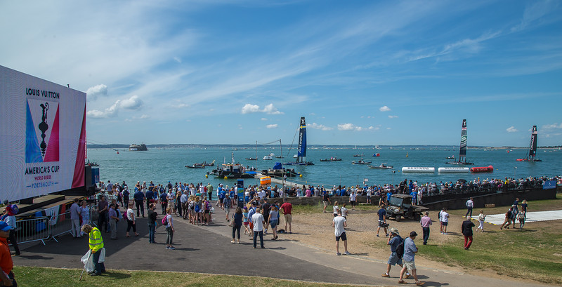 Americas Cup in the Solent off Southsea, July 2016