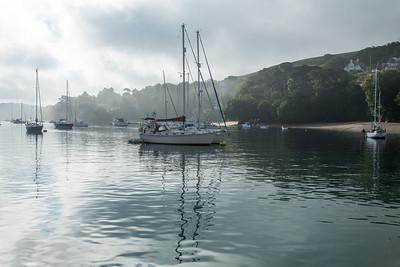 Misty morn, Salcombe harbour
