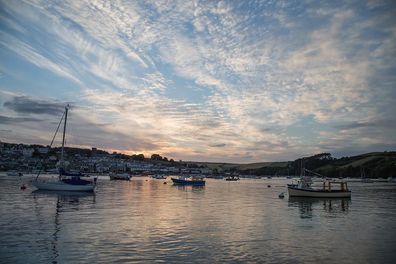 Salcombe harbour post sunset