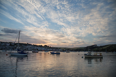 Salcombe harbour post sunset