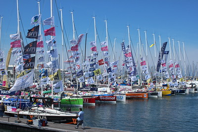 The fleet is in, Solitaire du Figaro Yacht Race, Cherbourg 2014