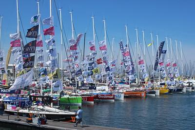 The fleet is in, Solitaire du Figaro Yacht Race, Cherbourg 2014
