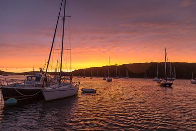 Helford River post-sunset sky