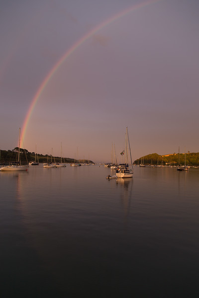 Rainbow looking out of the Helford River