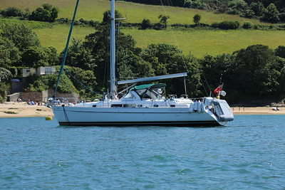 My Beneteau 40CC, on a mooring in Salcombe harbour