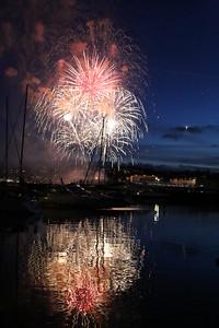 Le Figaro Yacht Race fireworks, Torquay 2015