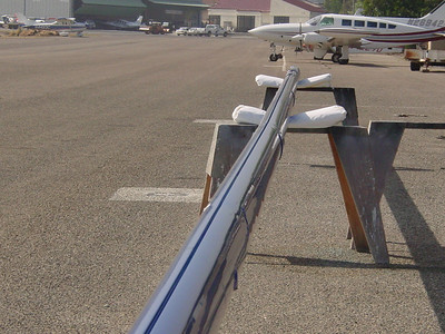 Azzurra mast restoration at McCluskey's world famous for Shelby Cobra concourse restoration.