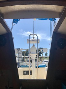 View of Nav Pod from the cabin interior