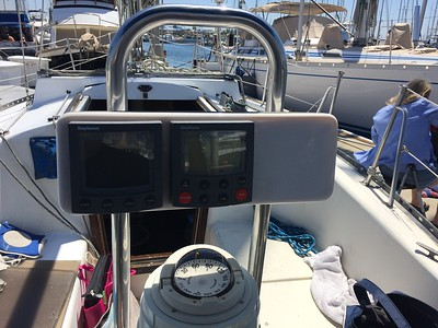 Nav Pod with Autopilot, Depth instrumentation, Richie binnacle compass,