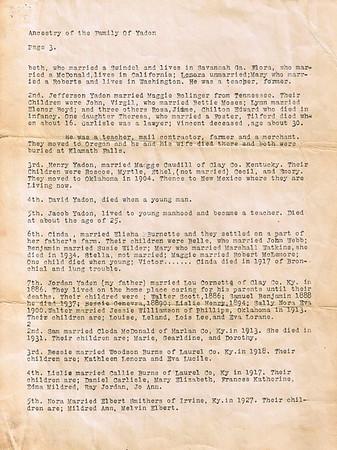 Yadon (en) Family History Documents