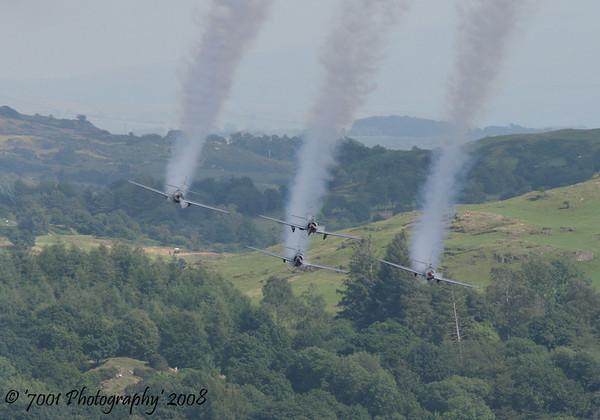'66' Yak 52 & '33', '49', '61' Yak 50 x3 - 26th July 2008.