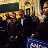 KRISTOPHER RADDER — BRATTLEBORO REFORMER<br /> Democratic presidential candidate and entrepreneur Andrew Yang takes photos with supporters after a town hall at the Colonial Theatre, in Keene, N.H., on Wednesday, Feb. 5, 2020.