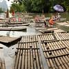 Bamboo rafts.