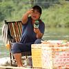 Beer and peanut raft.  The lady could see Radek likes beer :).