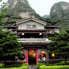 Our hotel, the Yangshuo Mountain Retreat.  Yangshuo is about one hour 15 minutes south of Guilin by car.  It is right on the Yulong river.