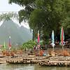 Bamboo raft panorama.