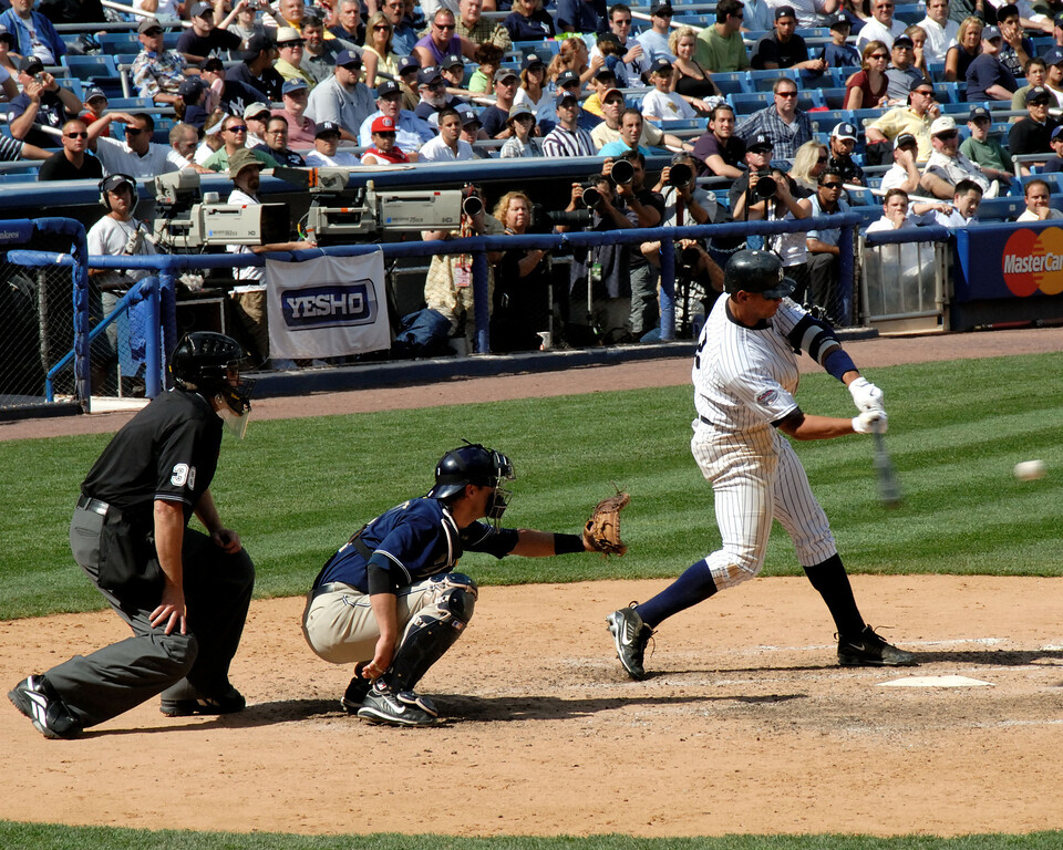 This was the winning hit.  As I mentioned in another gallery, I love shooting when Arod is hitting.  You never know when you are going to see something great.
