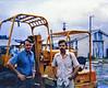 Mike Allen and John Van Meter on the dock