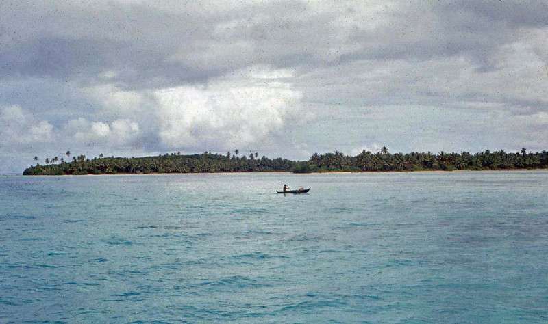 Canoe in the lagoon