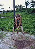 Ulithi:  Digging hole for a water-seal toilet