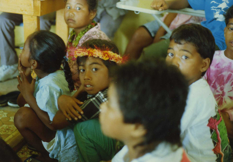 Training on Chuuk:  Children in the school where we student-taught during training on Chuuk
