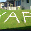 Known to many and for many years, the Yap sign in whitewashed stones on the Courthouse lawn in Colonia