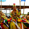 Dancers from Yap perform a bamboo stick dance during the Yap Day celebration on Guam, 2007