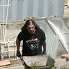 Kevin on the business end of our wheelbarrow