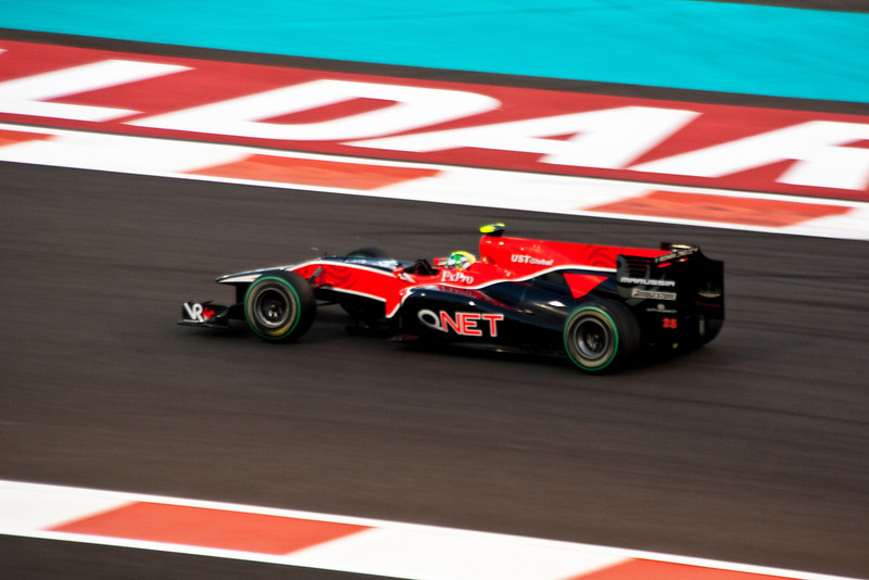 Car 25: Virgin Racing, Lucas di Grassi, qualified 22nd on the grid.