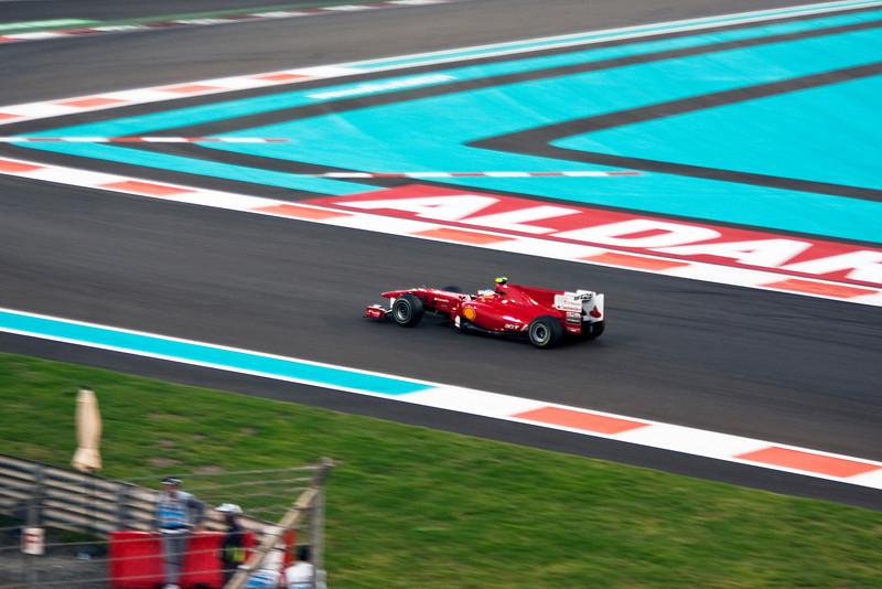 Car 8: Scuderia Ferrari Marlboro, Fernando Alonso, qualified 4th on the grid.
