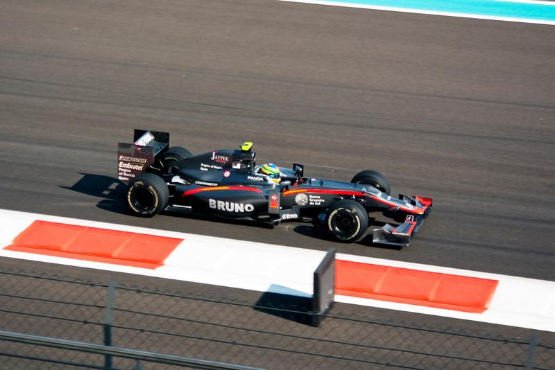 Car 21: Hispania Racing F1 Team (HRT), Bruno Senna, 22nd fastest in practice.