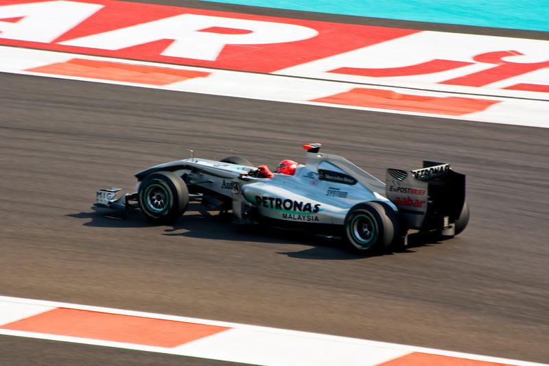 Car 3: Mercedes GP Petronas F1 Team, Michael Schumacher, 7th fastest in practice.