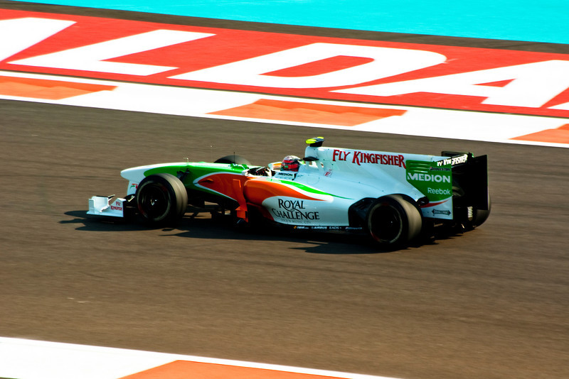 Car 15: Force India F1 Team, Vitantonio Liuzzi, 16th fastest in practice.