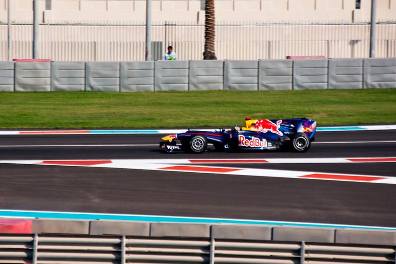 Car 5: Red Bull Racing, Sebastian Vettel, fastest in practice and looking good.