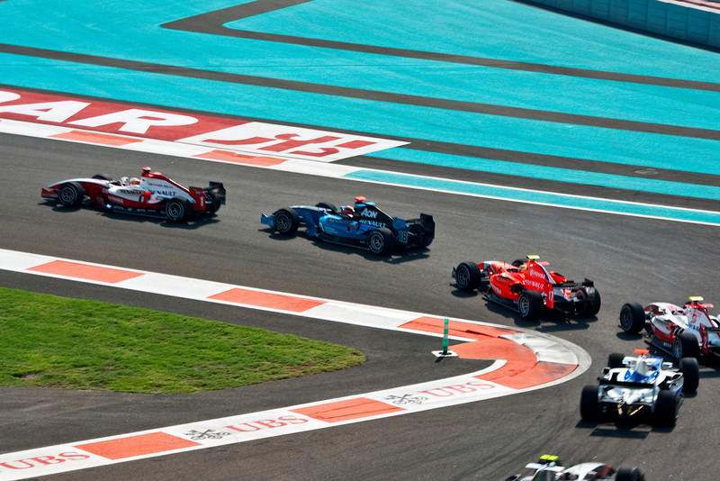 1 18 17 2 Cars 1: ART, Jules Bianchi; 18: Ocean Racing Technology, Max Chilton; 17: Arden International Motorsport, Rodolfo González; and, 2: ART, Sam Bird - with two other cars - finishing 8th, 13th, and 17th respectively, while car 2 did not finish.
