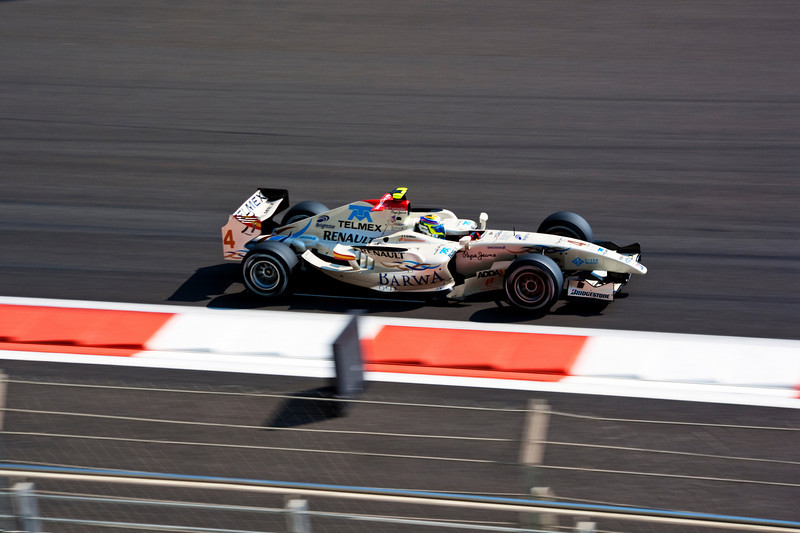 Car 4: Barwa, Sergio Perez, did not finish the race.