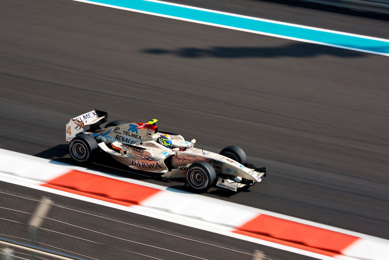 Car 4: Barwa, Sergio Perez, who did not finish the race.