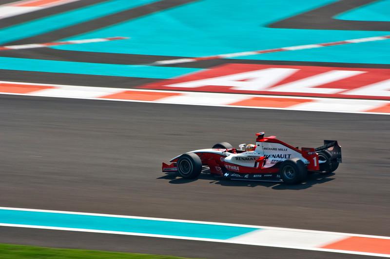 Car 1: ART, Jules Bianchi finished 8th.