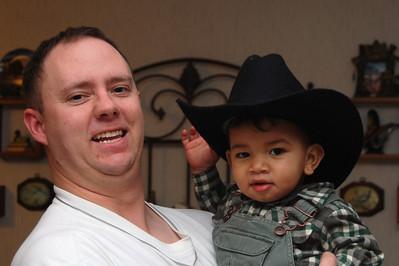 AJ's First Cowboy Hat