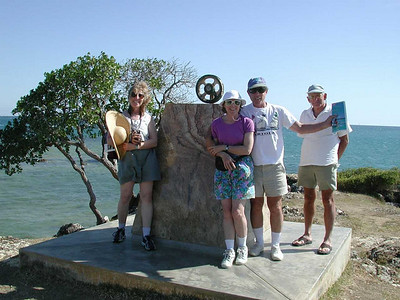 Noumea, 4/5ths of the crew enjoying the promenade - Dorothy, Susan, David and Bruce