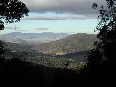 The valley below Mount Field