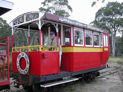 The Ida Bay Railway is the last operating bush tramway in Tasmania, and also has the distinction of being the most southerly railway in Australia.