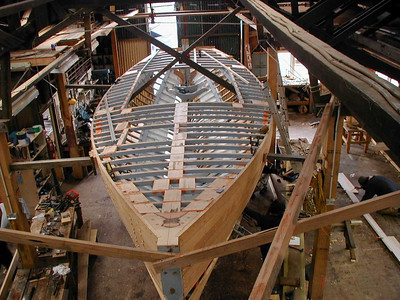 The main emphasis at the School is on the use of Tasmania's unique boatbuilding timbers -- all ancient species endemic to Tasmania, and in very limited supply
