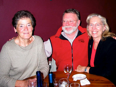 Eva, Steve and Dorothy at Cafe Eelco, Nelson.