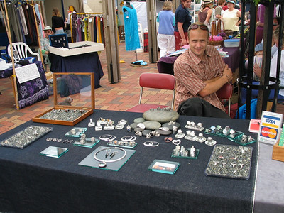 Nelson Saturday market: Silver jeweler