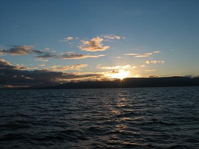 Sunset over Abel Tasman Park, New Zealand