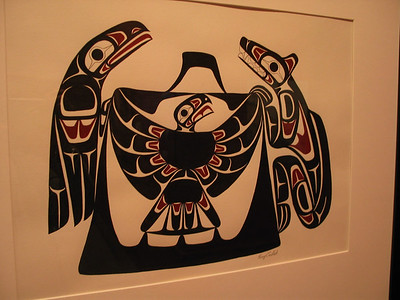 U of BC Museum of Anthropology - Raven, Eagle and Wolf